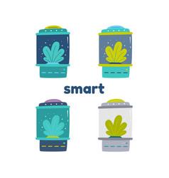 Smart greenhouse for seedlings vector