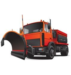 snowplough truck vector image