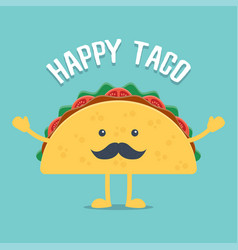 taco mexican food vector image