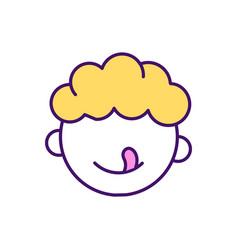 Toddler development rgb color icon vector