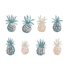 tropical beach party pineapples ananas grunge vector image