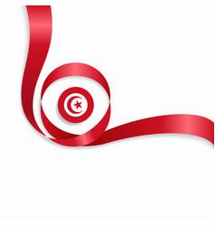 Tunisian wavy flag background vector