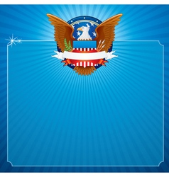 USA Poster Background vector image