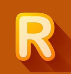 Volume icons alphabet r vector