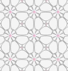 White flourish with pink tile ornament vector