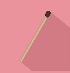 wood match icon flat style vector image