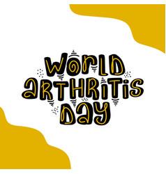 World arthritis day template for postcard vector