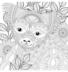 zentangle happy friendly koala for adult anti vector image