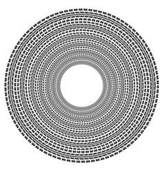 circle tire track vector image