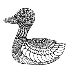 duck coloring page for children and adults vector image vector image