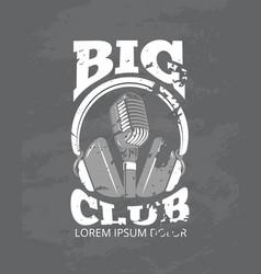 karaoke music club audio record studio vector image