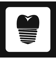 Tooth implant icon simple style vector image