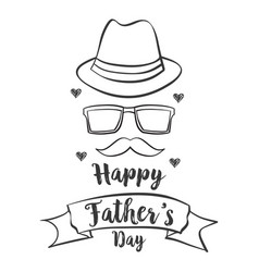Happy father day hand draw celebration vector