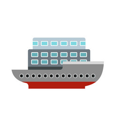 large passenger ship icon flat style vector image vector image
