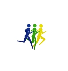 running or jogging people icon vector image vector image