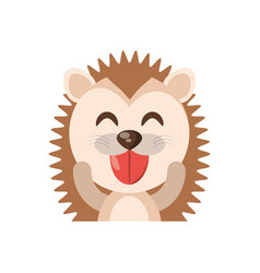 cute porcupine animal character funny vector image