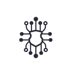cyber security icon on white vector image