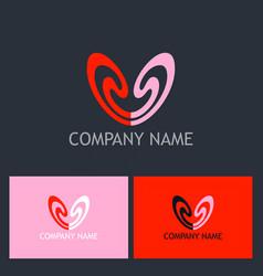 love couple beauty logo vector image