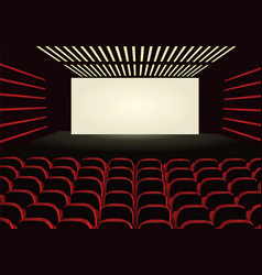 Red cinema vector