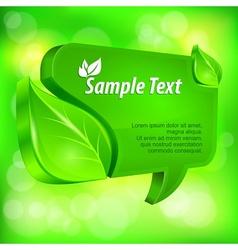 Speech green bubble vector image vector image