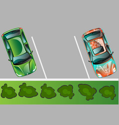 city parking banner vector image vector image