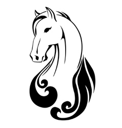 silhouette of a horse head vector image vector image