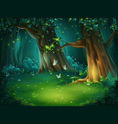 A forest glade vector