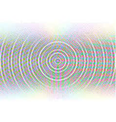 abstract circle glitched background vector image