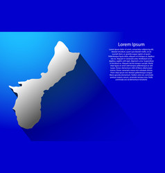 Abstract map territory of guam with long shadow vector