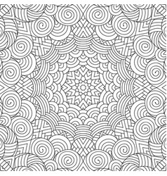 Adult colouring book page vector