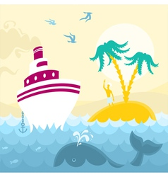Adventures at Sea vector image