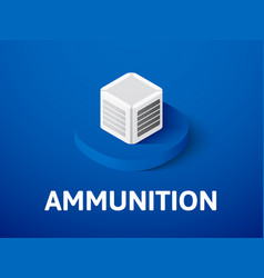Ammunition isometric icon isolated on color vector