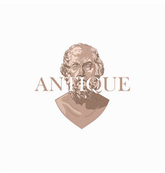 Antique bust logo vector