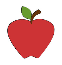apple fruit isolated icon vector image