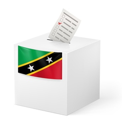 Ballot box with voting paper Saint Kitts and vector