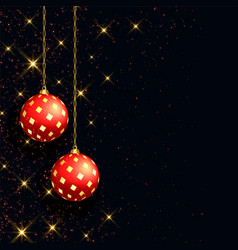 Beautiful black christmas background with vector