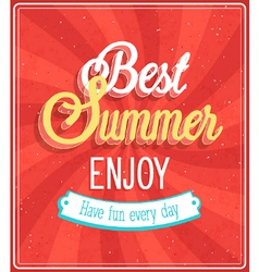 Best Summer Enjoy typographic design vector