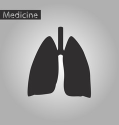 Black and white style icon of lungs and trachea vector