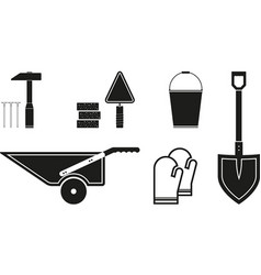 black tools icon vector image vector image