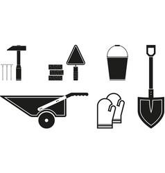 black tools icon vector image