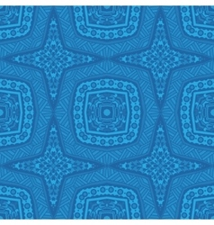 Blue geometric seamless pattern vector