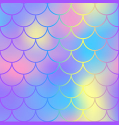 Blue pink fish scale pattern with colorful mesh vector