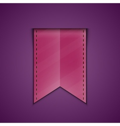 Bookmark decoration ribbon vector