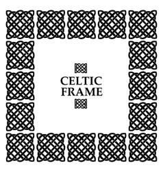 Celtic knot square frame vector
