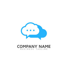 chat cloud logo icon design vector image