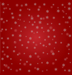 christmas background of big and small snowflakes vector image