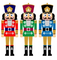 Christmas nutcracker vector image