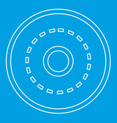 circle road icon outline style vector image vector image