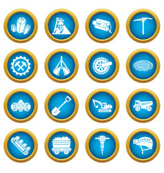 coal mine icons set simple style vector image