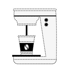 Coffee maker isolated vector